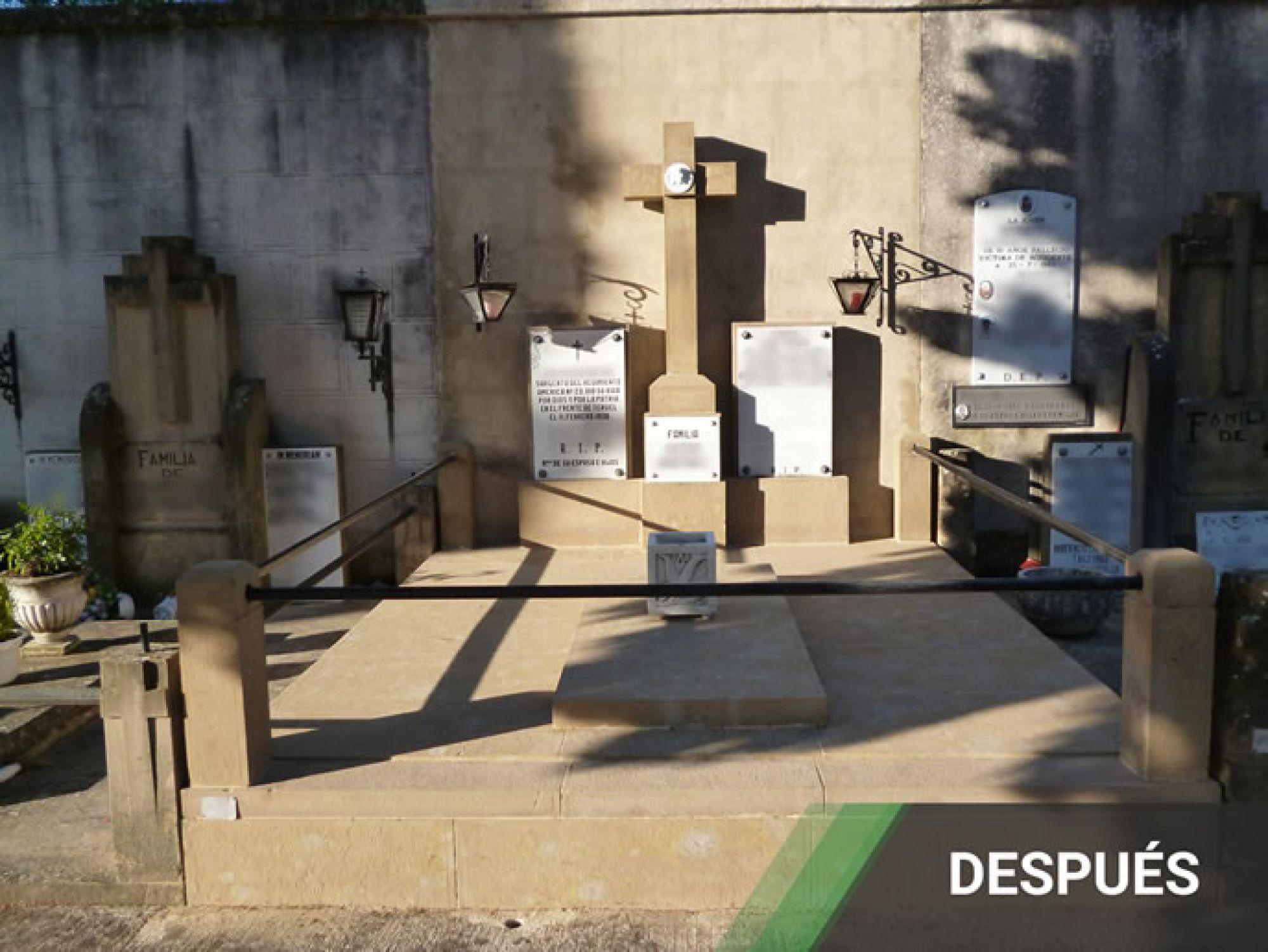 Restauracion de Panteones Antes y Después