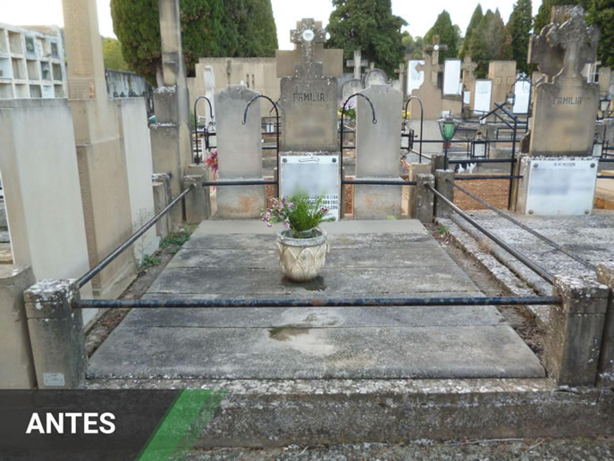 Restauración de Panteones Antes y Después
